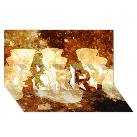 Sparkling Lights SORRY 3D Greeting Card (8x4)