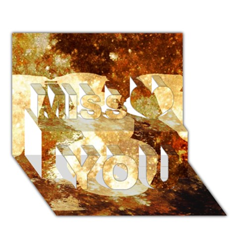 Sparkling Lights Miss You 3D Greeting Card (7x5)