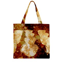 Sparkling Lights Zipper Grocery Tote Bag