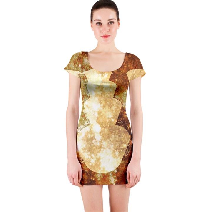 Sparkling Lights Short Sleeve Bodycon Dress