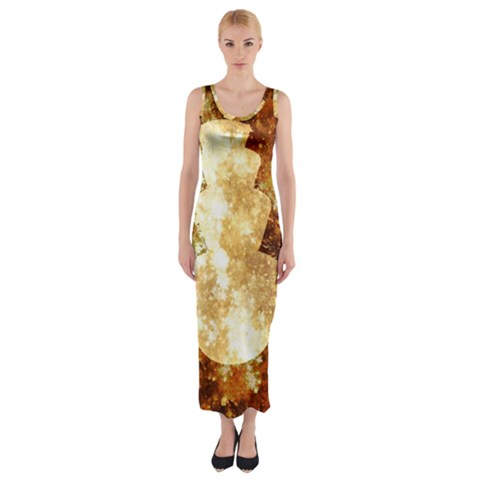 Sparkling Lights Fitted Maxi Dress