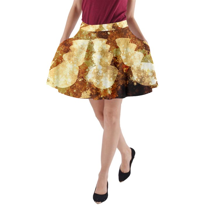 Sparkling Lights A-Line Pocket Skirt
