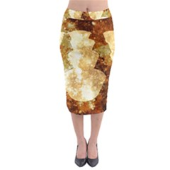 Sparkling Lights Midi Pencil Skirt