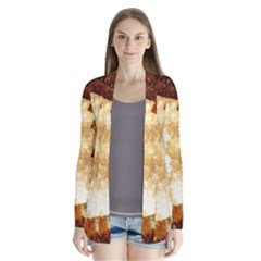 Sparkling Lights Drape Collar Cardigan