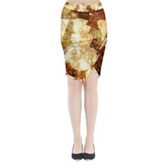 Sparkling Lights Midi Wrap Pencil Skirt