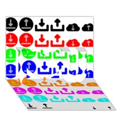 Download Upload Web Icon Internet I Love You 3D Greeting Card (7x5)