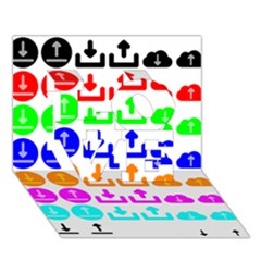 Download Upload Web Icon Internet LOVE 3D Greeting Card (7x5)