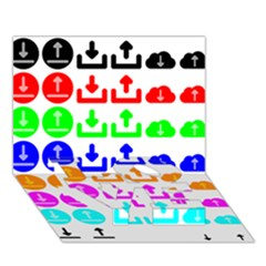 Download Upload Web Icon Internet LOVE Bottom 3D Greeting Card (7x5)