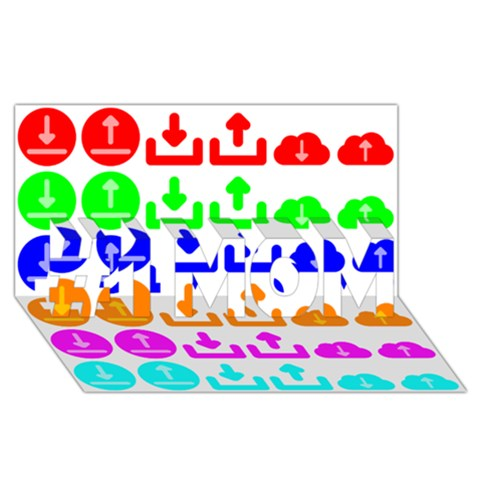 Download Upload Web Icon Internet #1 MOM 3D Greeting Cards (8x4)