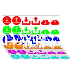 Download Upload Web Icon Internet BEST BRO 3D Greeting Card (8x4)