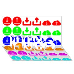 Download Upload Web Icon Internet HUGS 3D Greeting Card (8x4)