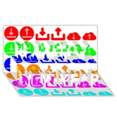 Download Upload Web Icon Internet Happy New Year 3D Greeting Card (8x4)
