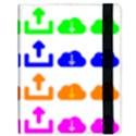 Download Upload Web Icon Internet Samsung Galaxy Tab 10.1  P7500 Flip Case View3