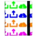 Download Upload Web Icon Internet Samsung Galaxy Tab 8.9  P7300 Flip Case View2