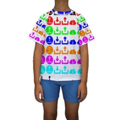 Download Upload Web Icon Internet Kids  Short Sleeve Swimwear