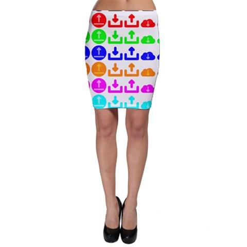 Download Upload Web Icon Internet Bodycon Skirt