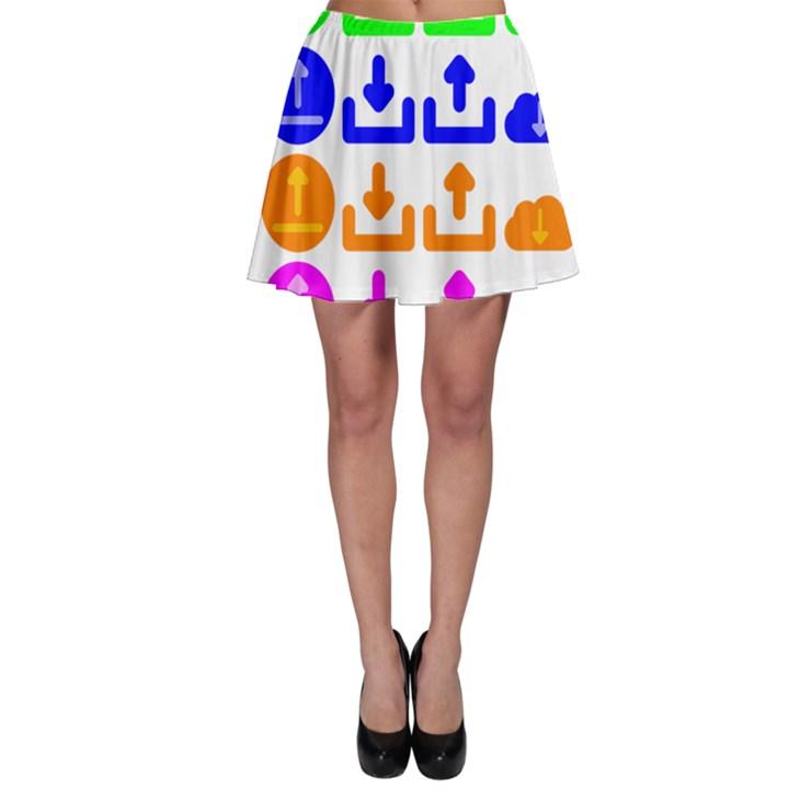 Download Upload Web Icon Internet Skater Skirt