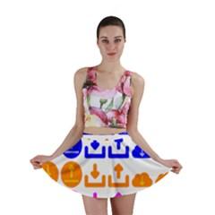 Download Upload Web Icon Internet Mini Skirt