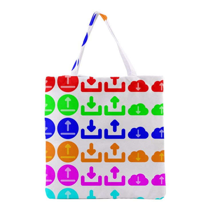 Download Upload Web Icon Internet Grocery Tote Bag
