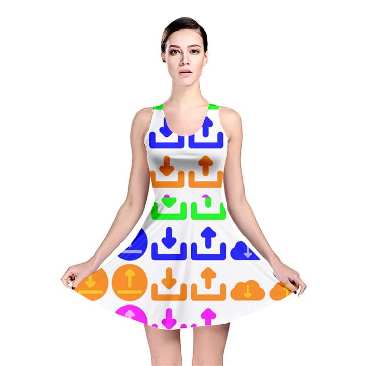 Download Upload Web Icon Internet Reversible Skater Dress
