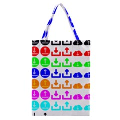 Download Upload Web Icon Internet Classic Tote Bag