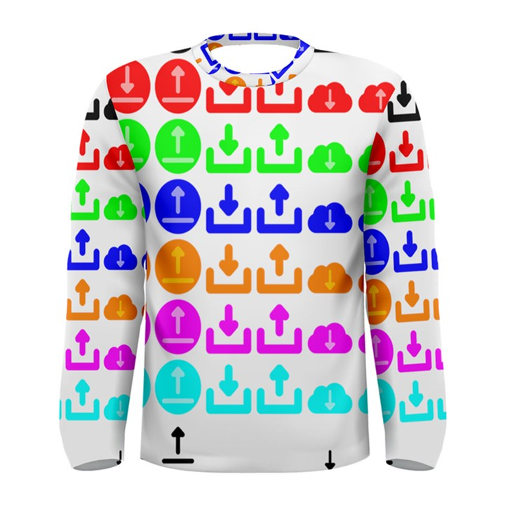 Download Upload Web Icon Internet Men s Long Sleeve Tee
