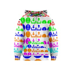 Download Upload Web Icon Internet Kids  Zipper Hoodie