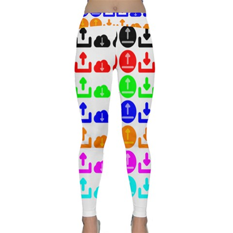 Download Upload Web Icon Internet Yoga Leggings