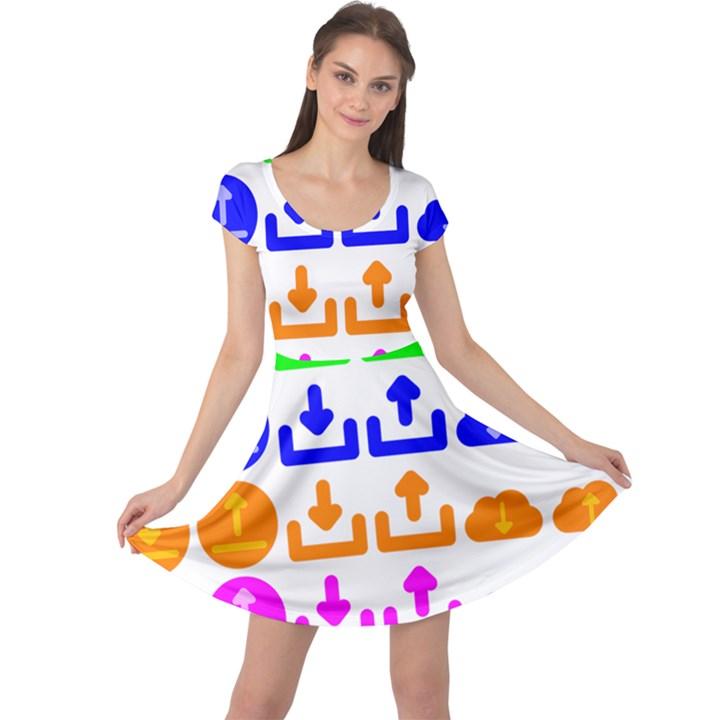 Download Upload Web Icon Internet Cap Sleeve Dresses