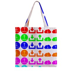 Download Upload Web Icon Internet Zipper Grocery Tote Bag