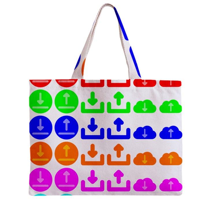 Download Upload Web Icon Internet Zipper Mini Tote Bag