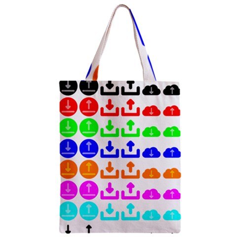 Download Upload Web Icon Internet Zipper Classic Tote Bag