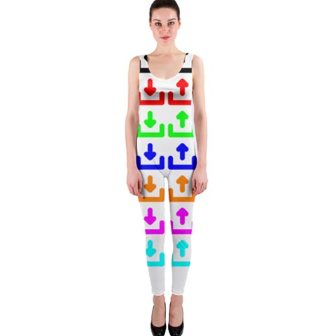 Download Upload Web Icon Internet OnePiece Catsuit