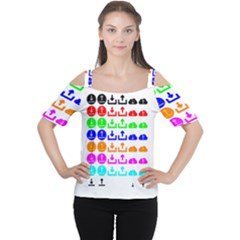 Download Upload Web Icon Internet Women s Cutout Shoulder Tee