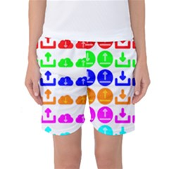Download Upload Web Icon Internet Women s Basketball Shorts