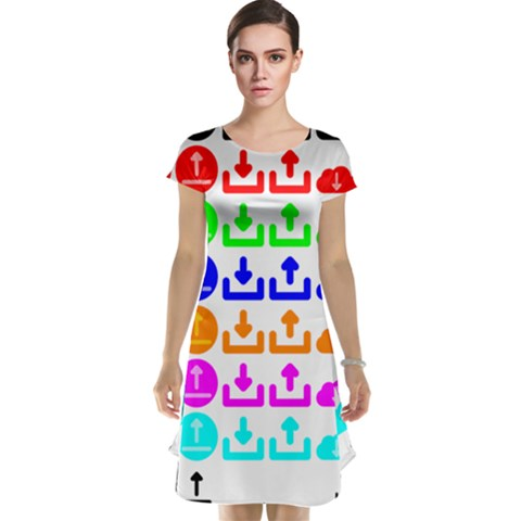 Download Upload Web Icon Internet Cap Sleeve Nightdress