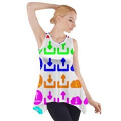Download Upload Web Icon Internet Side Drop Tank Tunic