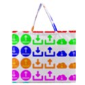 Download Upload Web Icon Internet Zipper Large Tote Bag View1
