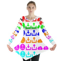 Download Upload Web Icon Internet Long Sleeve Tunic