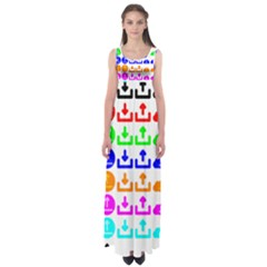 Download Upload Web Icon Internet Empire Waist Maxi Dress