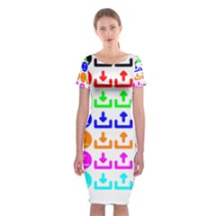 Download Upload Web Icon Internet Classic Short Sleeve Midi Dress