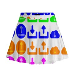 Download Upload Web Icon Internet Mini Flare Skirt