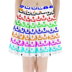 Download Upload Web Icon Internet Pleated Mini Skirt