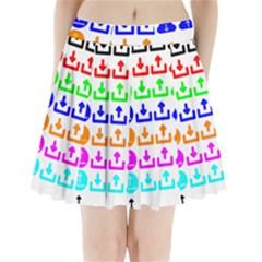 Download Upload Web Icon Internet Pleated Mini Skirt
