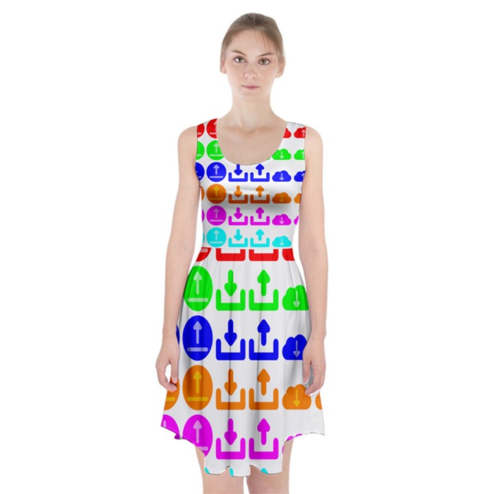 Download Upload Web Icon Internet Racerback Midi Dress