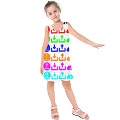 Download Upload Web Icon Internet Kids  Sleeveless Dress