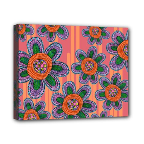 Colorful Floral Dream Canvas 10  X 8