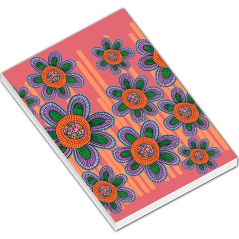 Colorful Floral Dream Large Memo Pads
