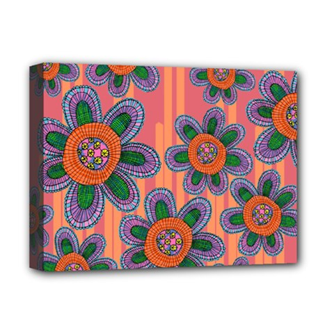 Colorful Floral Dream Deluxe Canvas 16  x 12