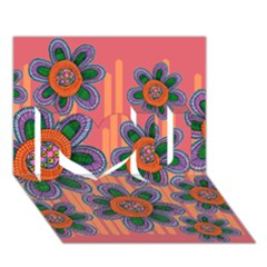 Colorful Floral Dream I Love You 3d Greeting Card (7x5)